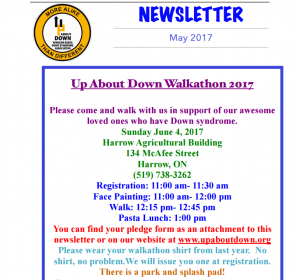 Up About Down Annual Walkathon @ Harrow Agricultural Building | Essex | Ontario | Canada