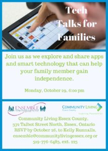 Ensemble's Tech Talks @ Community Living Essex | Essex | Ontario | Canada