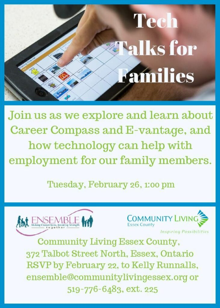 Ensemble and Community Living Tech Talk @ Community Living Essex  | Essex | Ontario | Canada