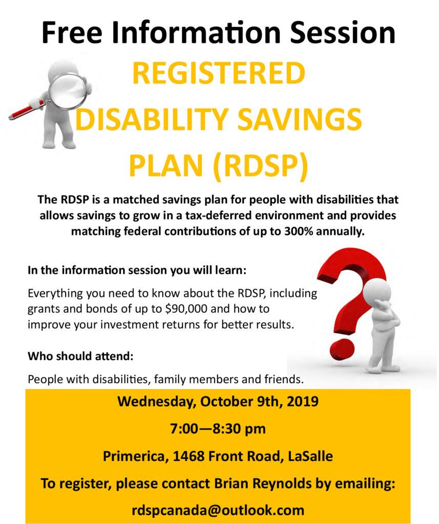 Registered Disability Savings Plan (RDSP) Presentation @ Primerica | Windsor | Ontario | Canada