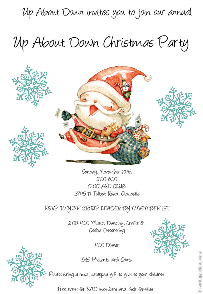 Christmas Party Invitation @ Ciociaro Club | Tecumseh | Ontario | Canada