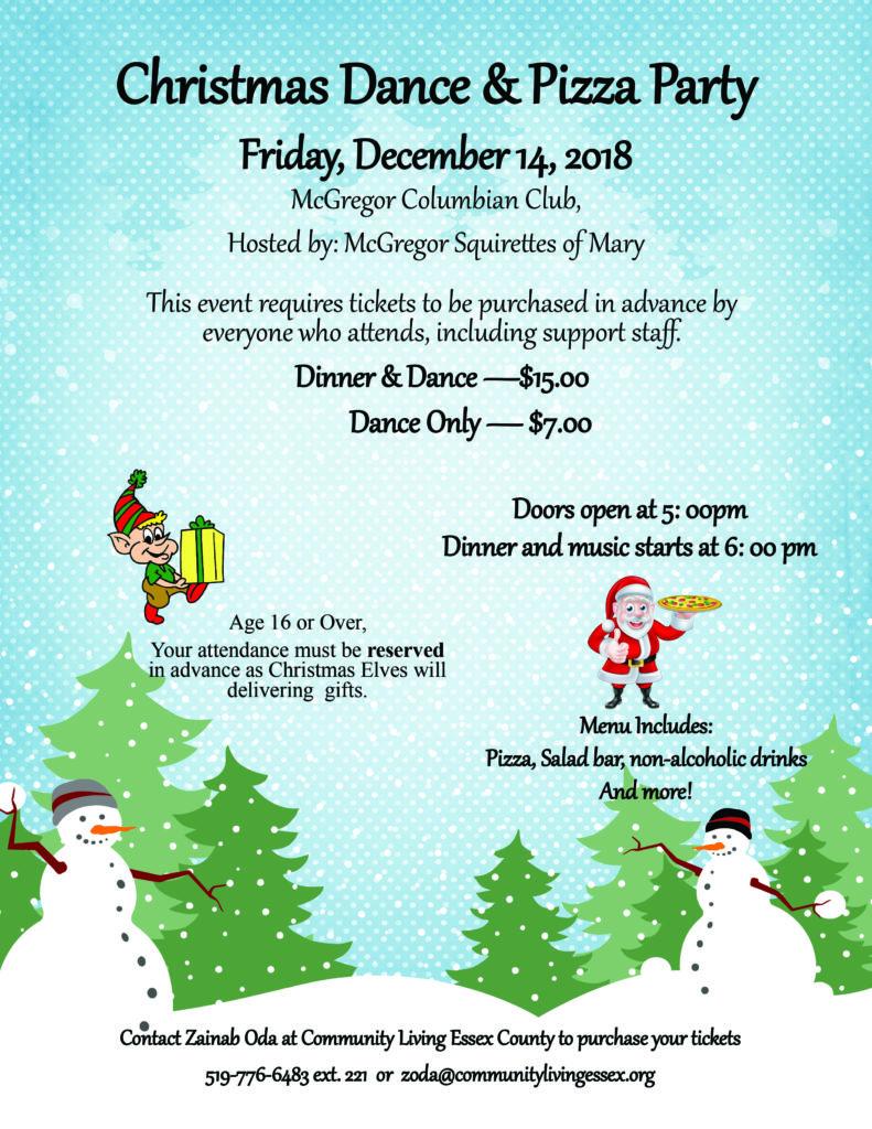 Christmas Dinner and Dance Flyer