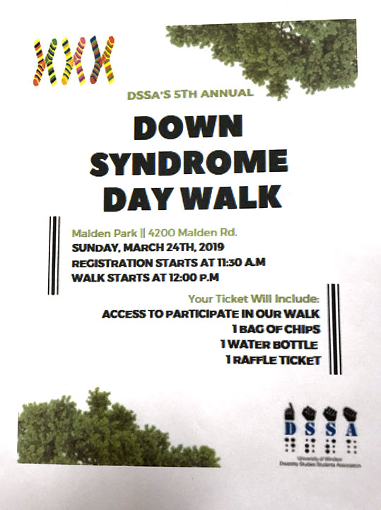 Down Syndrome Day Walk